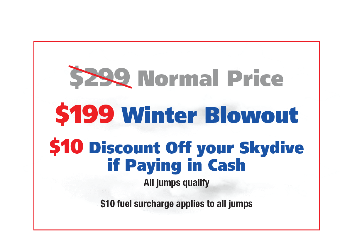 Skydive LV Pricing